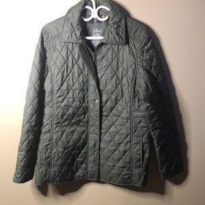 LL bean quilted jacket size large